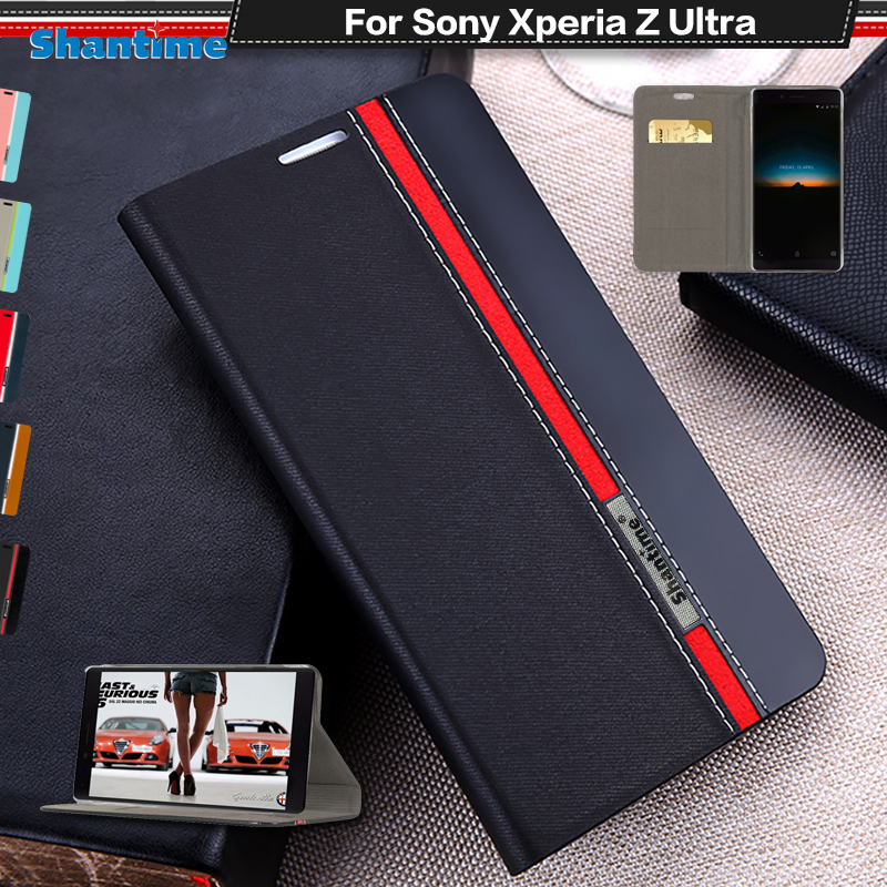 Book Case For Sony Xperia Z Ultra Wallet Flip Cover For Sony Xperia Z Ultra XL39H 6.44 Silicon Soft Back Cover ...
