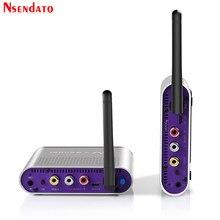 Measy AV220 2,4G Wireless AV Sender Empfänger Audio Video TV AV Signal Sender empfänger Gehen Durch Wand 200M / 660FT für SD