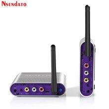 Measy AV220 2.4G محول سمعي وبصري استقبال الصوت والفيديو التلفزيون AV إشارة المرسل استقبال الذهاب من خلال الجدار 200 متر/660FT ل SD