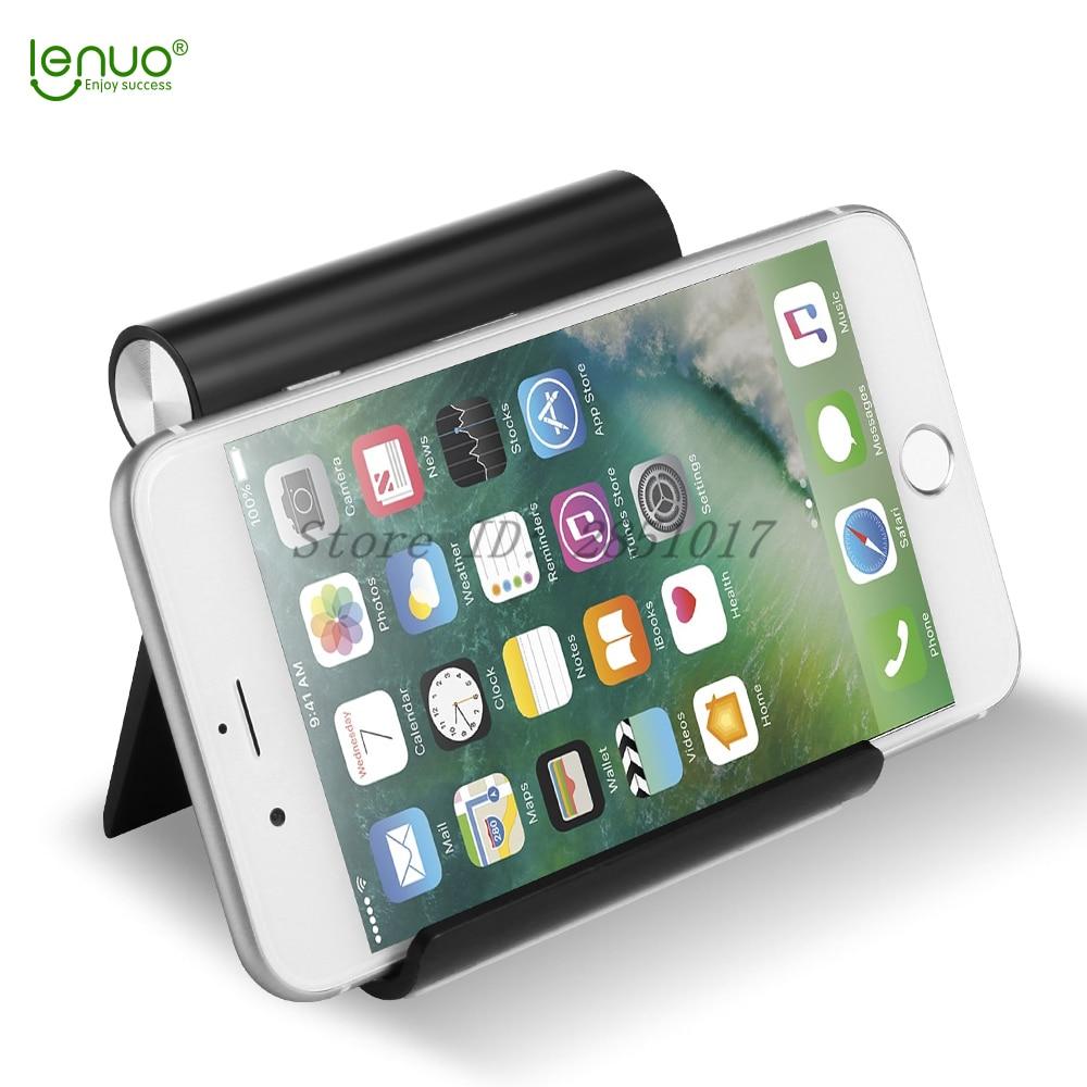 Lenuo Универсальный Гибкий Телефон Настольный Держатель для <font><b>iPhone</b></font> Samsung Xiaomi Huawei Мобильного Телефона Tablet Портативный v-образный Стенд Держатель