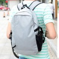 2014 new design fashion waterproof nylon pure color men's travel bag college student school causal backpack book bag