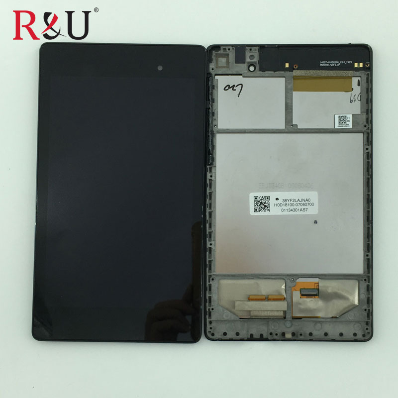 LCD Display Monitor Touch Screen Panel Digitizer Assembly Frame for Asus Google Nexus 7 2nd Gen 2013 ME571K K008 Wifi Version srjtek for lenovo miix 2 8 lcd display touch screen panel digitizer monitor assembly wifi repair part with frame