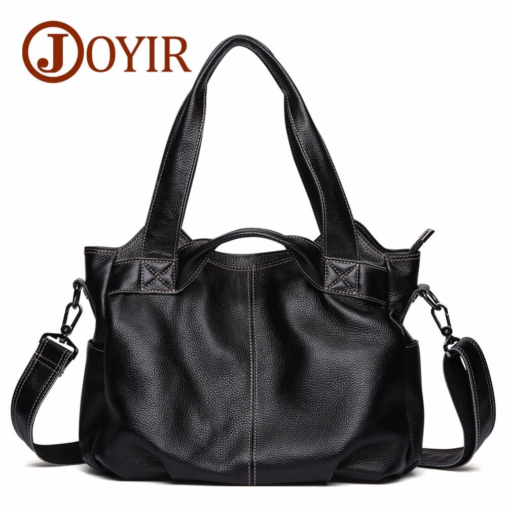 JOYIR Women's Genuine Leather Handbags Shoulder Bag Female Big Capcity Shopping Crossboby Bag For Women Bolsas femininas 8677 женские блузки и рубашки hi holiday roupas femininas blusa blusas femininas