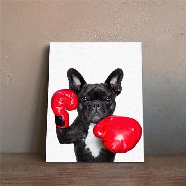 Art Impression Drôle Animal Chien Peinture Décoration De La Maison - Carrelage salle de bain et tapis rafraichissant chien