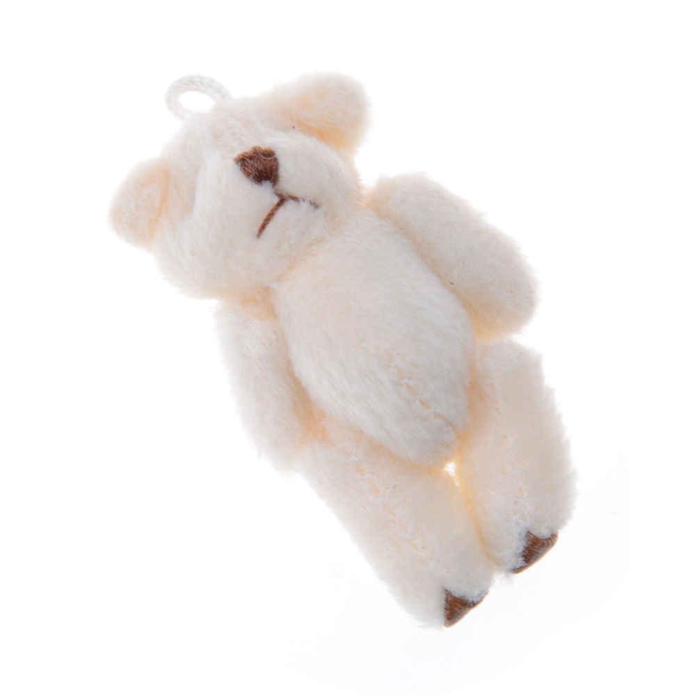 ZTOYL 3 шт. 6 см белый Объединенная Симпатичный мини-плюшевый мишка Kawaii Маленький Мишка для мультфильм букет игрушка Свадебные подарки