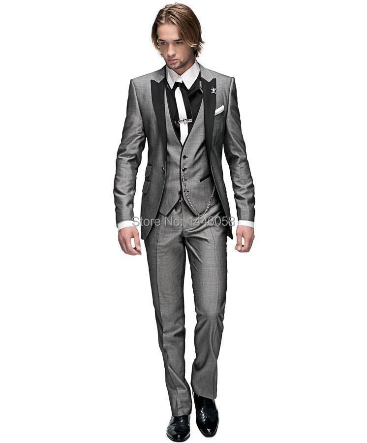 New Design 2016 Morning Style Best Man Peak Lapel Mens 3 Piece Suit Wedding Tuxedo Suits For Men Jacket Pants Vest In Underwear From Mother Kids On