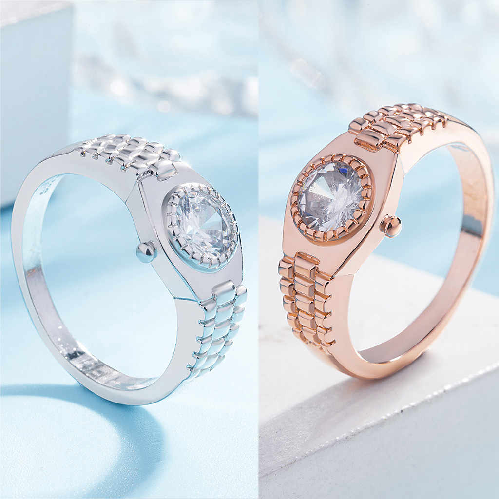 2019 кольца для женщин стильные минималистичные часы кольцо посеребренные ювелирные изделия
