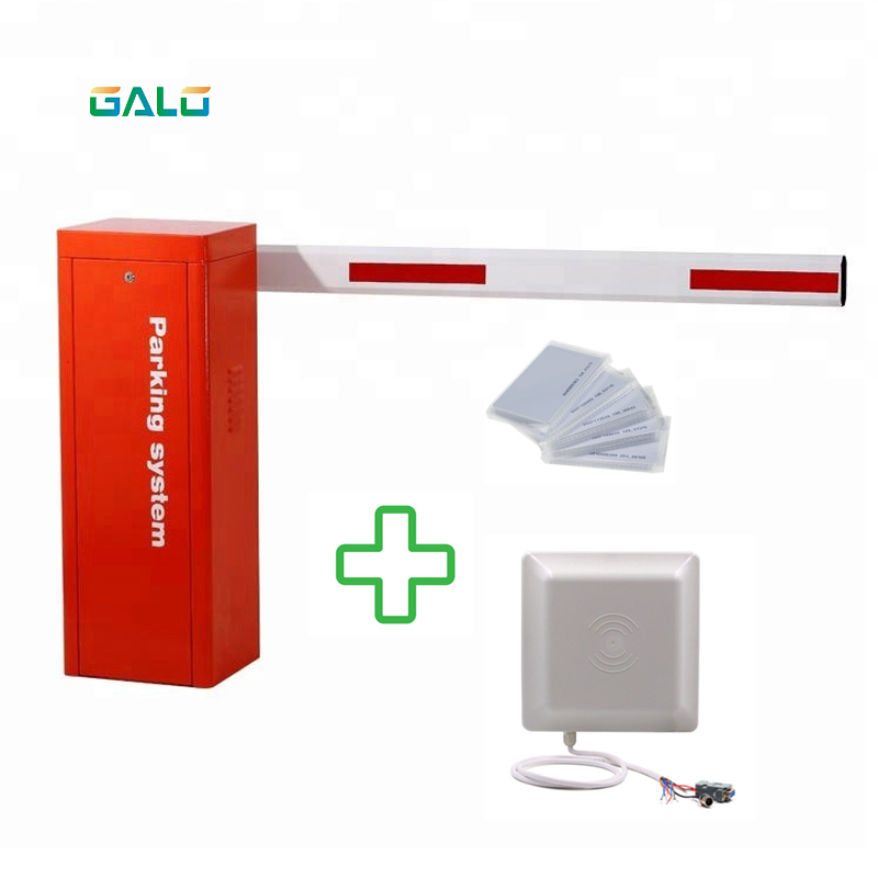 Manufacturer Automatic Car Boom Barrier Road Traffic Gate For Parking Lot With UHF Reader & Card
