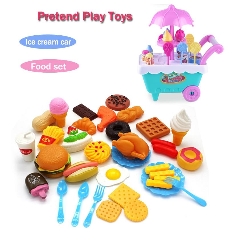 LWKO Girls Toys Miniature Kitchen Pretend Play Set Cooking