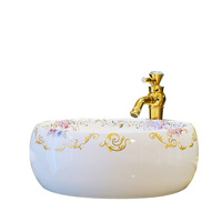 Chinese Jingdezhen ceramic bathroom bathtub above counter basin drum art basin wash basin wash basin LO628230