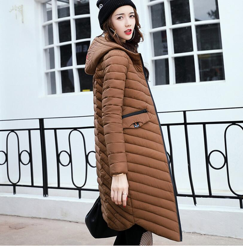 Woman Coat 90% White Duck Down Long Jacket Female Overcoat Ultra Light Slim Solid Jackets Winter Coat Portable Fashion Parkas