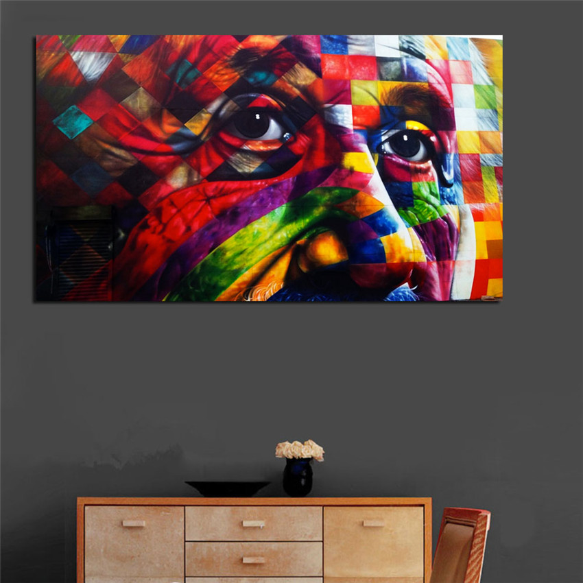 Frameless Einstein Wall Pictures Poster For Home Decoration Colorful Mankind Canvas Printings On Wall Art Cheap Christams Gift & ?Frameless Einstein Wall Pictures Poster For Home Decoration ...