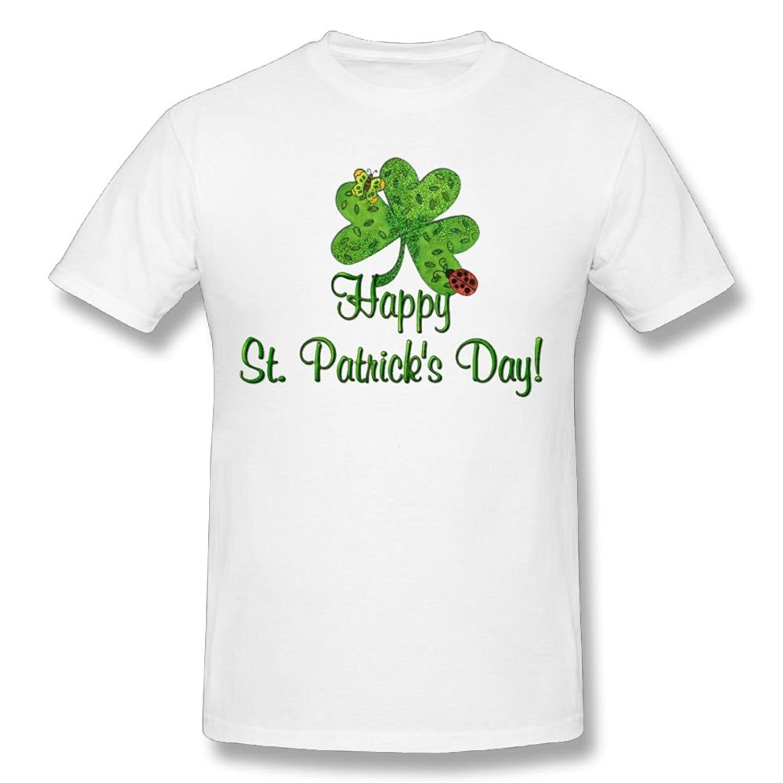 Возьмите warrenbbg Для мужчин футболка счастливый день Святого Патрика Изделие из хлопка с короткими рукавами Графический повседневные футбол...