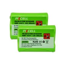 2 шт * PKCELL металл-гидридных или никель Батарея пакет AAA 800 мАч 3,6 V Перезаряжаемые беспроводной телефон Батарея для сверхмощные Светодиоды кра...