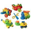 DIY Собраны Игрушки Слон, Самолет, Автомобиль, Поезд с Отвертка Разборка Модель Строительные Блоки Образовательные Игрушки для Детей