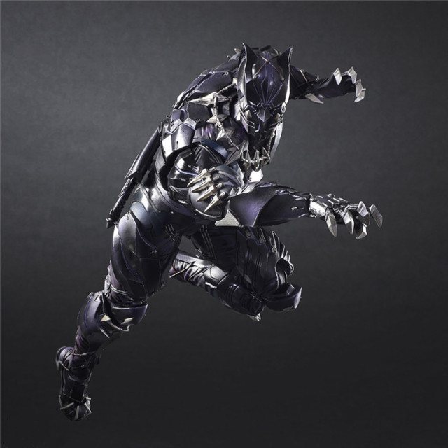 PLAY ARTS 27cm Marvel Avengers Black Panther Super Hero Action Figure Model Toy