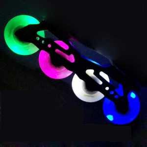 Image 1 - Szblaze 4 조각 85a led 플래시 휠 72mm 76mm 80mm pu 인라인 스케이트 휠 인라인 스케이트 웨이브 보드 캐스터 보드 스트리트 서핑