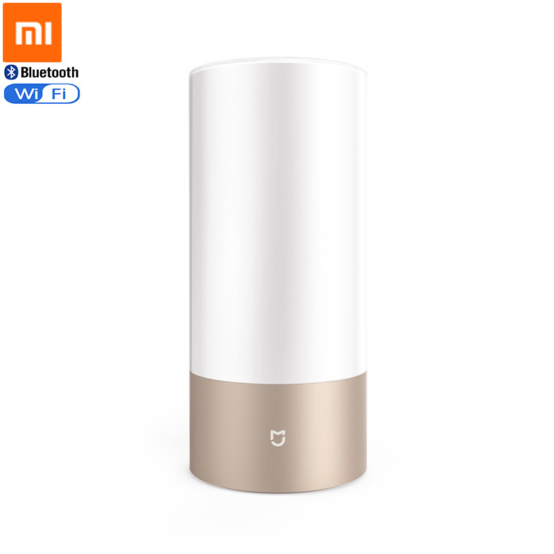 Original Xiaomi Mijia Smart Bed Bedside Lamp WiFi Bluetooth Control Dual mode LED RGBW Touch Operation