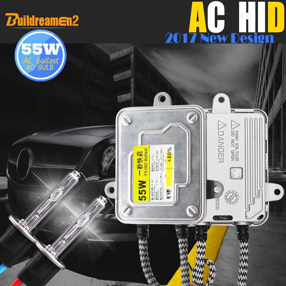 Buildreamen2 55W H1 Automotive HID Xenon Kit AC Ballast Lamp 3000K 4300K 6000K 8000K Conversion Car