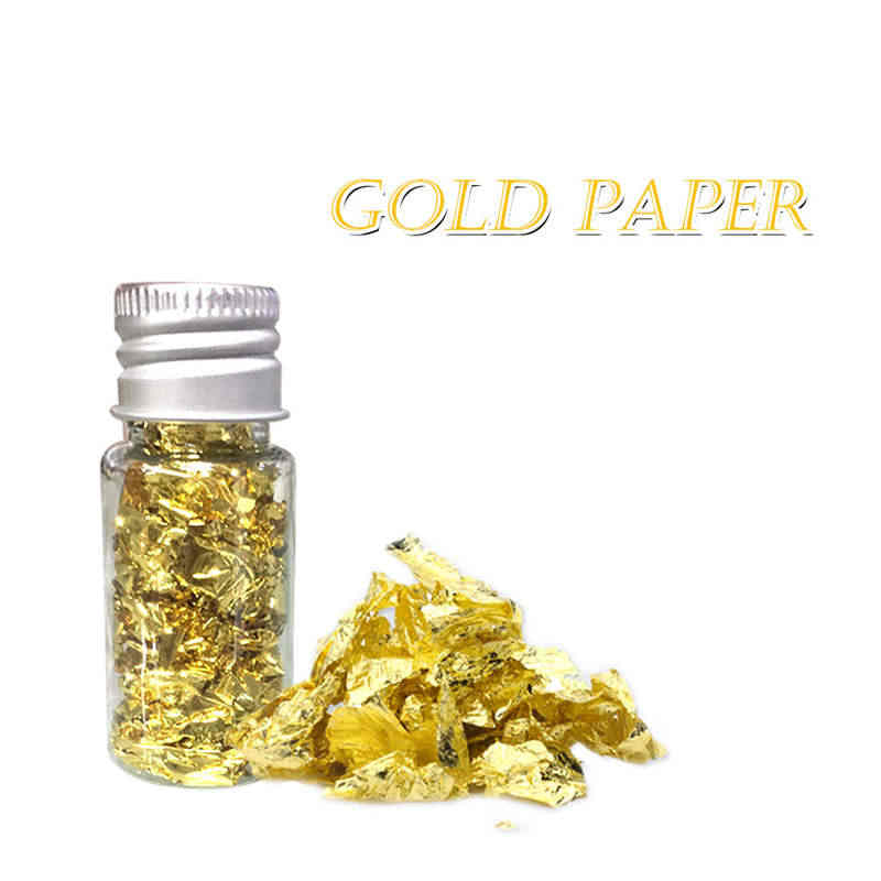 Gold foil paper 10ml Edible Gold Leaf Mask Decoration Authentic Gold Foil Cooking Cake And Chocolate Decoration Health Spa @30