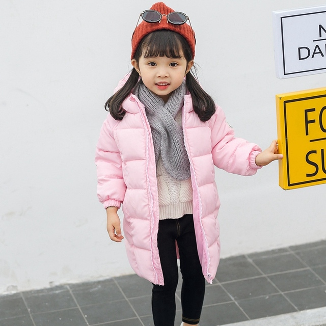 f8784930d Hooded Children Winter Down Jacket Fashion Long Sleeve Girl Boy Winter's  Outfits Clothes Kids Baby Cute Warm Think Winter Coats