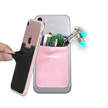 Creative Elastic Lycra Cell Phone Wallet Case Women Men Credit ID Card Holder Pocket Stick M Adhesive 58*88MM(China)