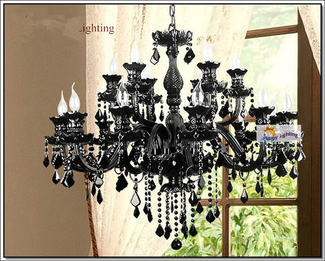 Kronleuchter Kristall Schwarz ~ Sterne hotel led luminaria große mode kronleuchter antike schwarz
