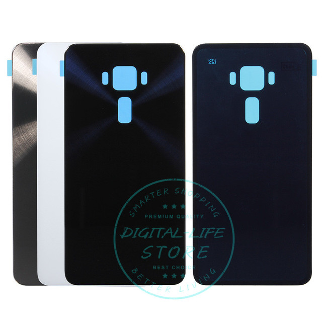 best service bc786 18e44 US $12.59 |For Asus Zenfone 3 ZE520KL Back Cover Rear Battery Door PC  Plastic + Glass For Zenfone3 ZE520KL Housing Replacement Spare Parts-in  Mobile ...