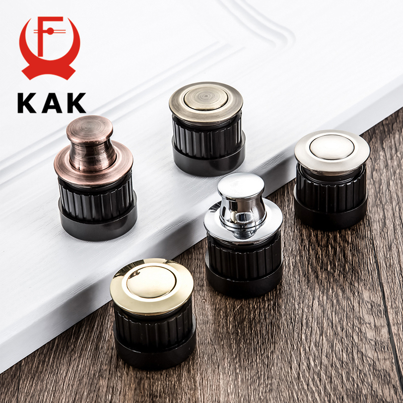 KAK Embedded Furniture Handles Knobs Telescopic Spring Shake Knobs Invisible Hidden Classical Light Pull Tatami Cabinet Handle
