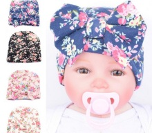 1 Pcs Newborn baby hat Girls Flower Bowknot Beanies Hats Comfortably Hospital Caps 2017 Hot Sale