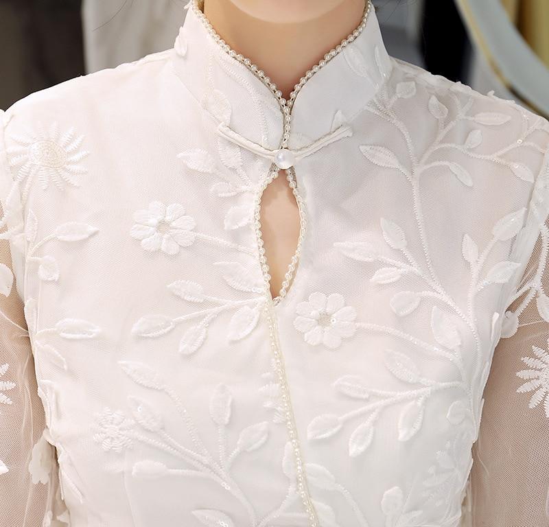 Femme Longue Qipao Cheongsam 1 Robes Moderne Robe Nouveau Chinois Dentelle Chinesisches Style De Kleid Orientales S xxl tw8xqg5