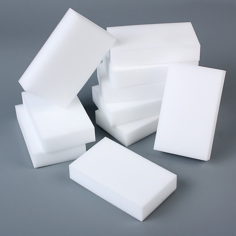 Sponges & Scouring Pads: 50Pcs White Magic Sponge Cleaner Super Decontamination Eraser Home Kitchen Bathroom Cleaning Sponges 10 x 6 x 2cm
