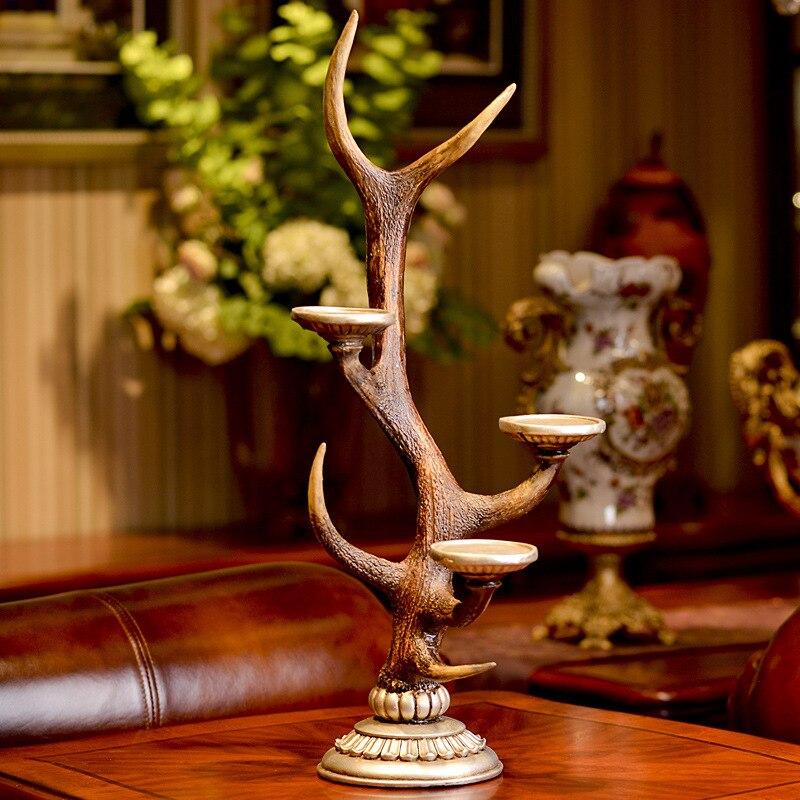 Подсвечник свадебные парные украшения с оленями современный минималистичный абстрактный Животные Смола животных узорный полимерный краф... - 3