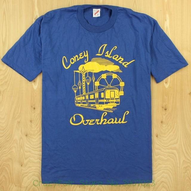 dc9c53b2f Vtg 80's 90's Usa Made Coney Island Overhaul Tee T-shirt Size Xl Jerzees Nyc