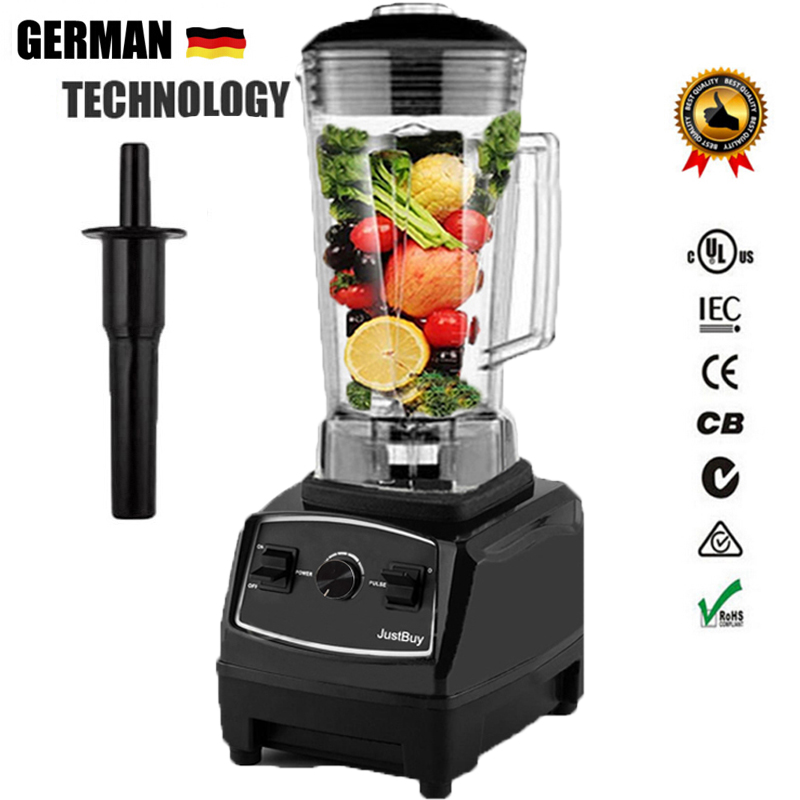 3HP BPA FREE commercial grade home professional smoothies power blender food mixer juicer food fruit processor 2l heavy duty commercial grade juicer fruit blender mixer bpa 3 speed 2200w professional smoothies food mixer fruit processor