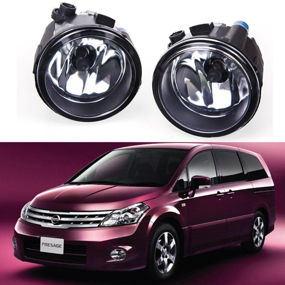 For NISSAN Presage 2006 Car styling Fog lights halogen lamps 1SET 26150-8990B car styling halogen fog lights fog lamps for nissan wingroad 2002 12v 1set