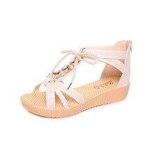 New Flip Flops Women's Casual Peep-toe Flat Buckle Shoes Roman Fashion Summer Sandals