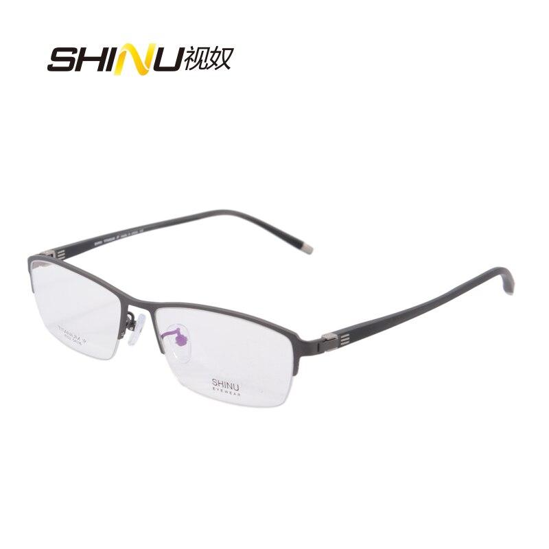 nový přírůstek čistý titan pánské poloviční obruba optické rámy brýle brýle obchodní brýle módní krátkozraký rámeček s krabičkou 6152