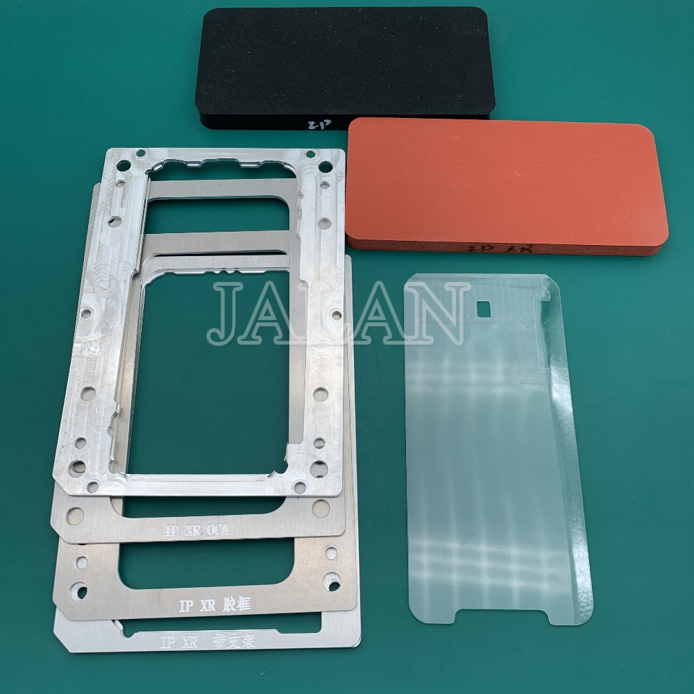 YMJ laminating mold for iphone XR LCD display screen positioning oca polarizer film glass with frame