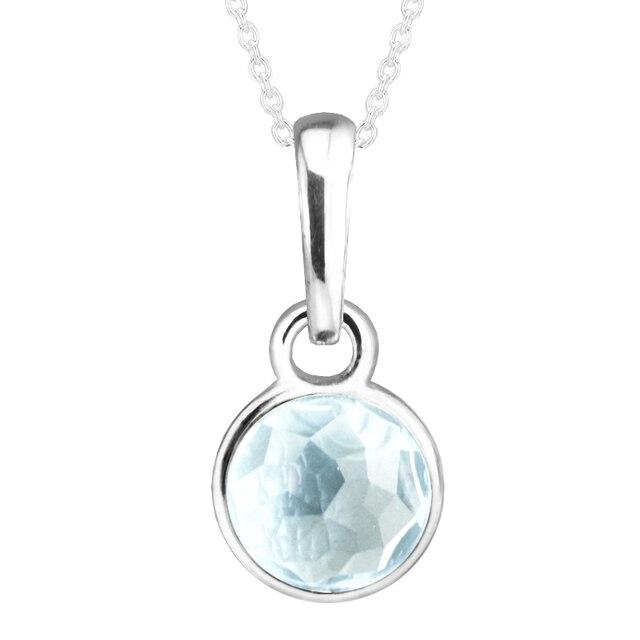 b39a86174366 Se adapta para Pandora pulseras de marzo de gota encantos con Aqua azul  cristal 100%