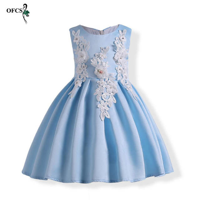 ddf40d16ed8 Online Shop Children s Flower Girls Dress Embroidered Pageant Bridesmaid  Wedding Party Dress Ball Gown Prom Princess Formal Kids Clothing 3T