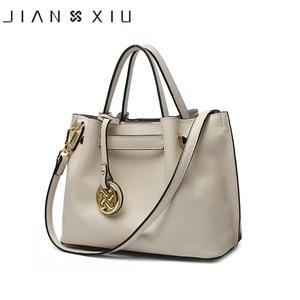 JIANXIU Brand Genuine Leather Handbag Luxury Handbags Women Bags Designer Bolsa Feminina 2019 Tote Borse Tassel Big Shoulder Bag