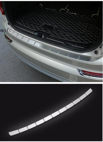 Stainless Steel Rear Bumper Protector Door Sill Plate Trunk Guard Plate Cover For Volvo XC90 2016 2017 2018 car styling sticker for honda cr v crv 2017 2018 suv stainless steel rear bumper protector sill trunk rear guard plate cover trim car styling