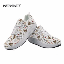 INSTANTARTER Kvinder Tegnebjørn Nurse Print Sneakers Ladies Fitness Shoes Platform Pustende Kvinde Body Shaping Slimming Shoes