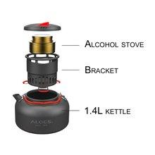 Alocs CW-K04 Outdoor Water Kettle Travel Camping Picnic Cookware Ultralight Aluminum 1.4L Capacity Water Pot Teapot Coffee Pot