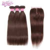 Queen Love Hair Pre Colored Brazilian Hair Straight 100 Human Hair Weave 4 Color 3 Bundles