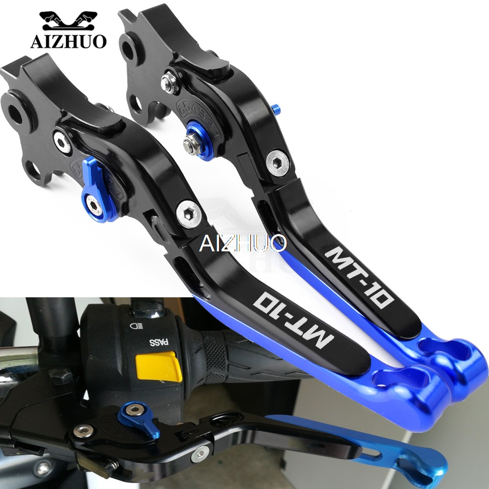 CNC Motorcycle Brake Clutch Lever Folding Extendable For <font><b>YAMAHA</b></font> MT10 <font><b>MT</b></font> <font><b>10</b></font> <font><b>MT</b></font>-<font><b>10</b></font> FZ10 2015 2016 2017 2018 image