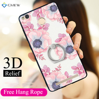 Gview 3D Relief Print Soft TPU Hard PC Back Cover Case For Xiaomi Redmi 3 Pro