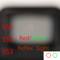 For Airsoft Gun 551 552 553 Red Green Dot Holographic Sight Scope Hunting Red Dot Reflex Sight Rifle Scope With 20mm Rail Mount