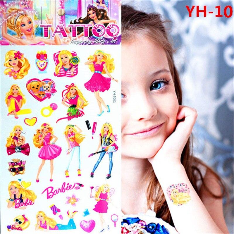 Niños encantadores del cuento de hadas Blancanieves Flash del tatuaje temporal a